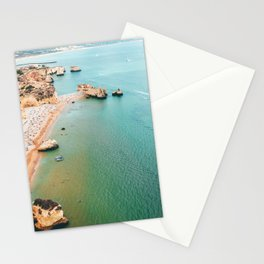 Ocean Print, Aerial Beach In Portugal Print, Aerial Beach Print, Beach Photography, Colorful Beach Umbrellas Drone Photography, Beach Print Framed Art Print, Lagos Algarve, Ocean Landscape Stationery Cards