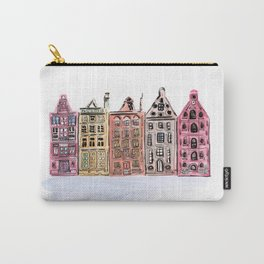 Coloured Houses Carry-All Pouch
