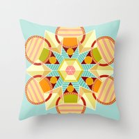 indie Throw Pillows featuring Indie Star by chloeeegee