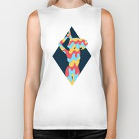 lucy Biker Tanks featuring Lucy by Popsicle Illusion
