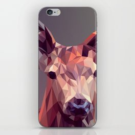 Colorful Polygons Abstract Deer iPhone Skin
