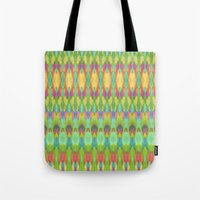 ikat Tote Bags featuring Ikat  by Amber Nuttall