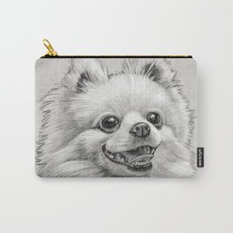 Smiling Dog (Pomeranian) Carry-All Pouch
