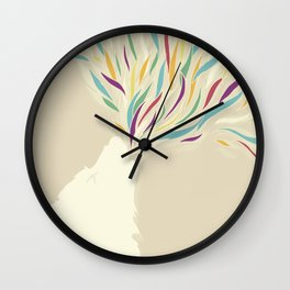 The Harlequin's Wolf Wall Clock