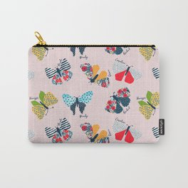 Funny butterflies illustration Carry-All Pouch