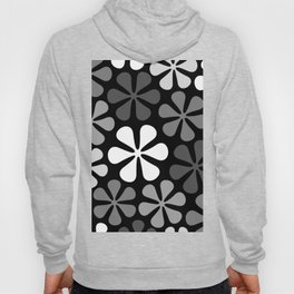 Abstract Flowers Monochrome Hoody