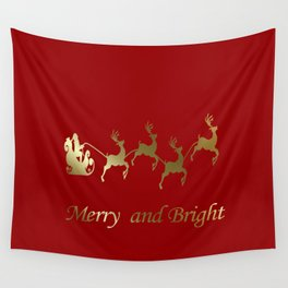 Merry and Bright Night Wall Tapestry