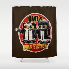 Owls Pulp Fiction Shower Curtain