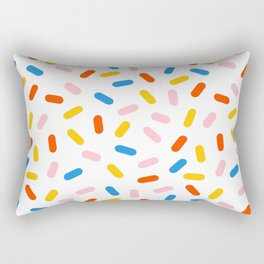 Livin' It - abstract pattern minimal modern primary colors pantone gender neutral retro throwback Rectangular Pillow