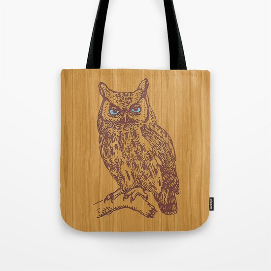 WOODEN OWL Tote Bag