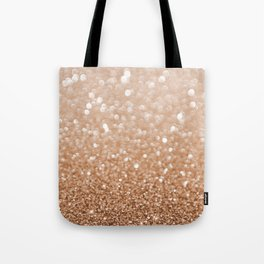 Copper Shiny Powder Texure Tote Bag