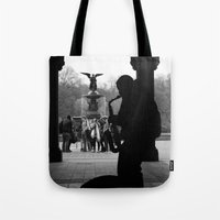 central park Tote Bags featuring Central Park by Julian Clune