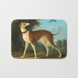 Greyhound in a landscape by Jean-Baptiste Oudry, 1746 Bath Mat