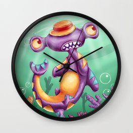 Little hammer shark  Wall Clock