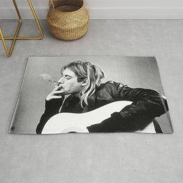 Kurt Coba-in Smoking, Modern, Stylish Gift, Music icon, Nirvana., Rug