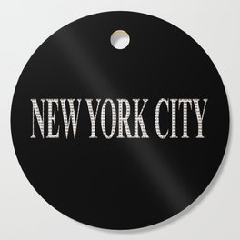 New York City (type in type on black) Cutting Board