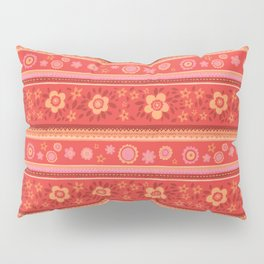 Bright Red Flowers Pillow Sham