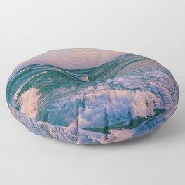 Sunset Crashing Waves Floor Pillow