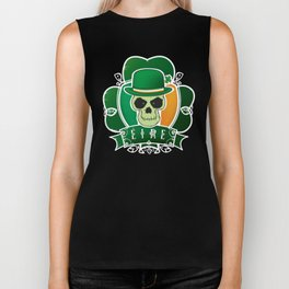 Lucky Irish  skull Biker Tank