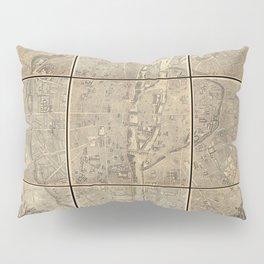 Jacques Gomboust - Map, Plan and Descriptions of Paris (1652) Pillow Sham