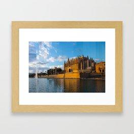 Dusk on Cathedral of Palma de Mallorca Framed Art Print