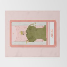 Tarot Card XI: (Supreme Court) Justice Throw Blanket