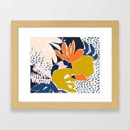 Modern flowers - design for a happy life Framed Art Print