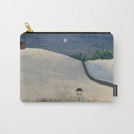 Winter landscape snowman Carry-All Pouch