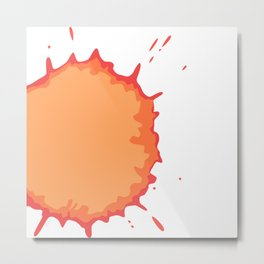 Splat on White - by Friztin Metal Print