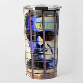 Melbourne Graffiti Street Art - Bono behind bars Travel Mug