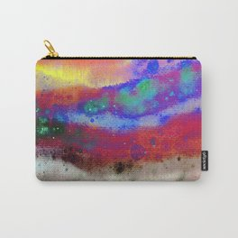 Kraft Paper Colorful Abstract Carry-All Pouch