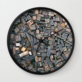Letters Wall Clock
