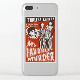 THRLLS AND CHILLS Clear iPhone Case