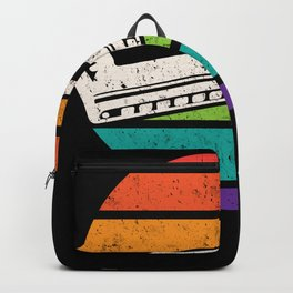 Retro Vintage Harmonica Mouth Instrument Backpack