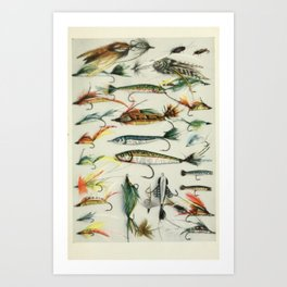 Fishing Lures Art Print