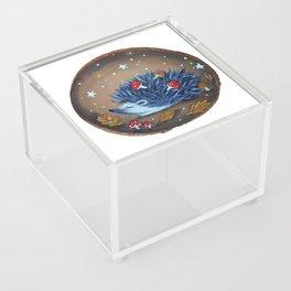 Magical Autumn Hedgehog With Forest Treasures Acrylic Box