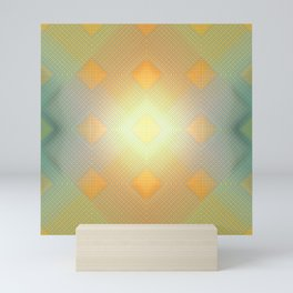 Vintage light pattern ... Mini Art Print