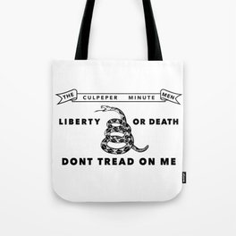 Culpeper Minutemen Flag - Authentic High Quality Tote Bag