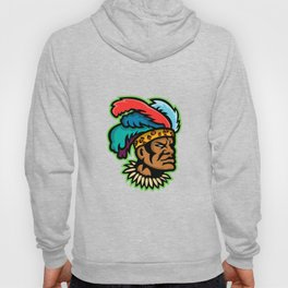 Zulu Warrior Head Mascot Hoody