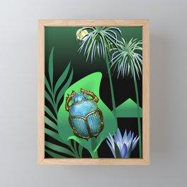 Night Of The Scarab Framed Mini Art Print