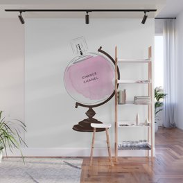 Pink Perfume Globus Wall Mural