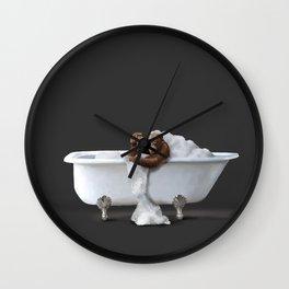 Orangutans in Bath Wall Clock