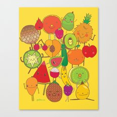 Veggies Fruits Canvas Print