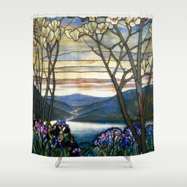 Louis Comfort Tiffany - Decorative stained glass 5. Shower Curtain