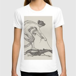 Nude Classical Woman Riding a Beetle 1895-1896 T-shirt