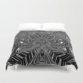 Subconscious Healing Frequency Black and White Edition Duvet Cover