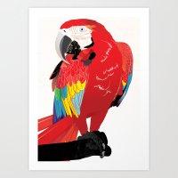 wasted rita Art Prints featuring Rita  by Nicholas Darby