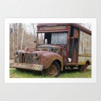 truck Art Prints featuring Truck by Hayley Q. Drewyor