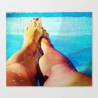 feet Canvas Prints featuring Feet by Carol Mota
