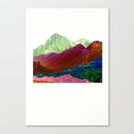 Abstract Mountain Range Collage Canvas Print